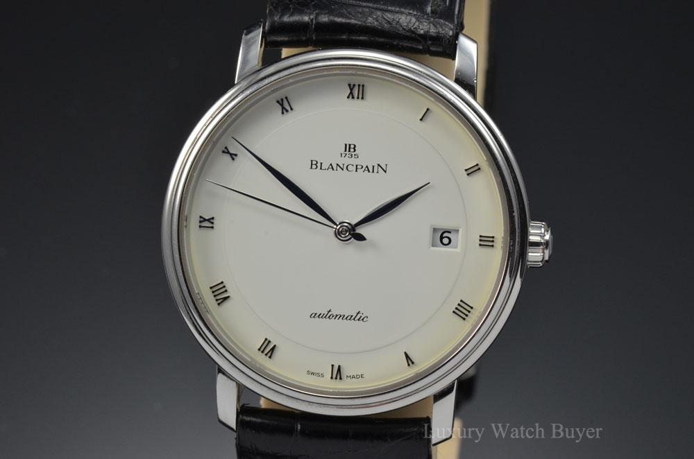 mens blancpain villeret ultra slim automatic date 38mm watch 6223 mens blancpain villeret ultra slim automatic date 38mm watch 6223 1127 55b