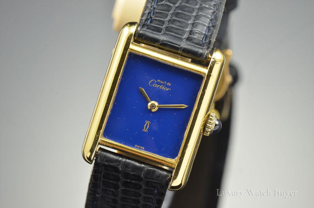 Ladies Must De Cartier 18k Gold Vermeil Silver Manual Wind