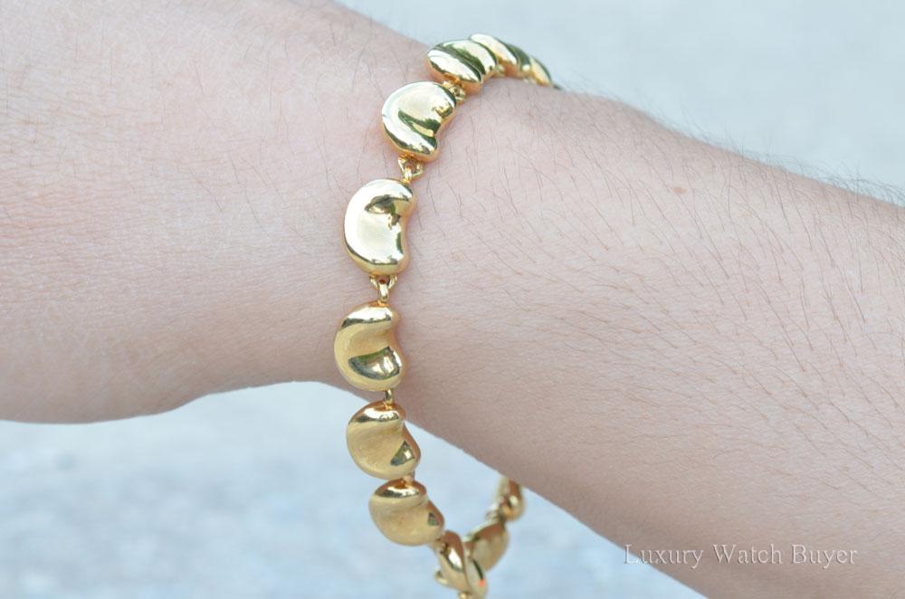 Elsa Peretti 18k Yellow Gold Bean Bracelet