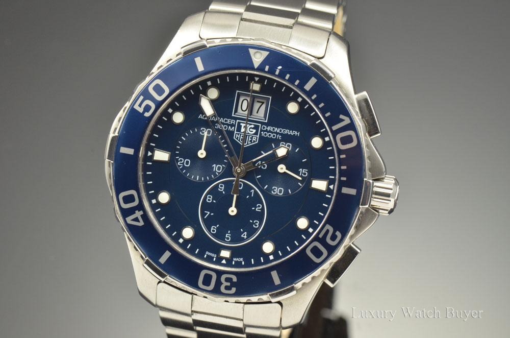 Mens Tag Heuer Aquaracer Grande Date Quartz Chronograph