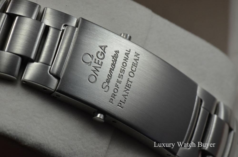 mens omega planet ocean xl 45 5mm automatic black dial ss bracelet