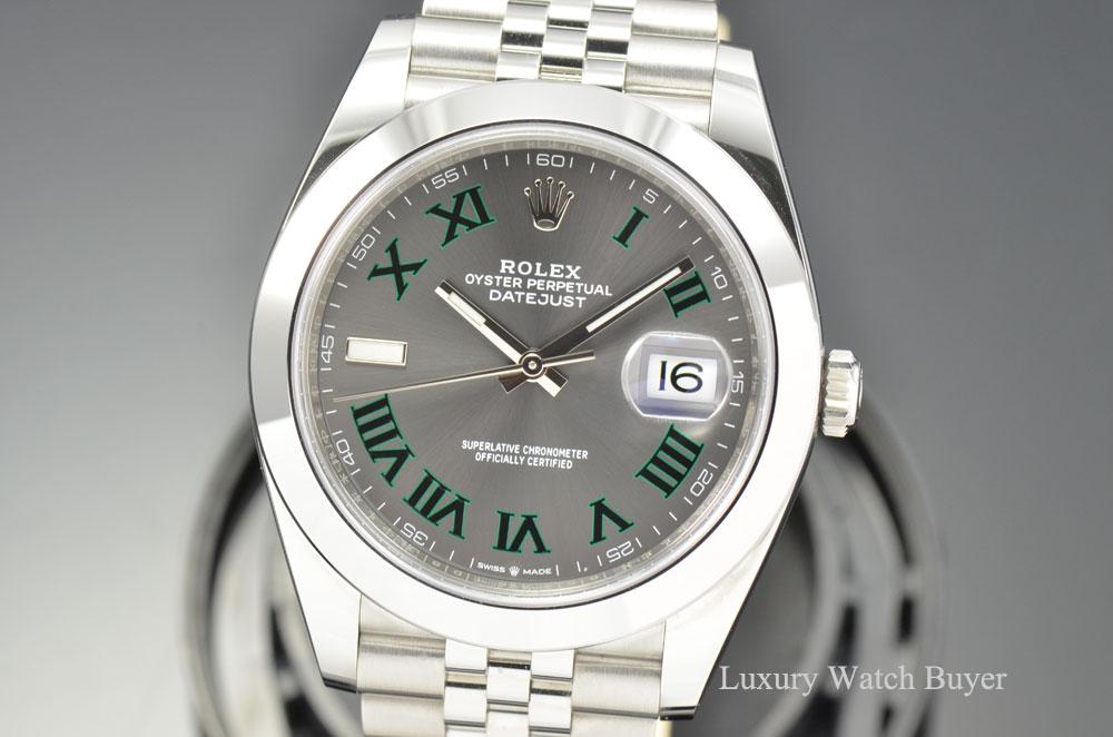 2018 Mens Rolex Datejust Ii 41mm Slate Roman Numeral Dial